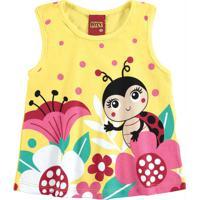 Blusa Infantil Feminina Amarelo