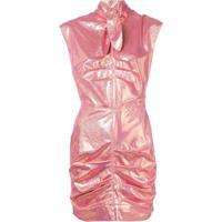 Msgm Vestido Com Glitter - Rosa