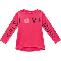 Blusa ''Girls Love Music''- Rosa & Pretakyly