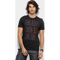 Camiseta Adidas Id Linkeage Masculina - Masculino-Preto