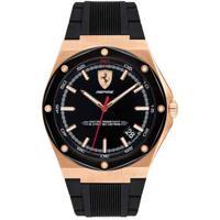 Relógio Scuderia Ferrari Masculino Borracha Preta - 830553