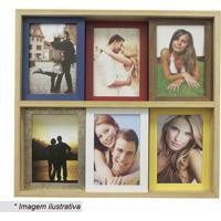 Painel Slide Para 6 Fotos- Marrom Claro & Amarelo- 3Kapos