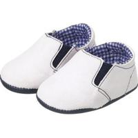 Sapatinho Bebê Plis Calçados Iate Masculino - Masculino-Branco