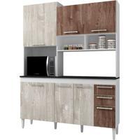 Cozinha Compacta Lotus 7 Pt E 2 Gv Champanhe E Chocolate