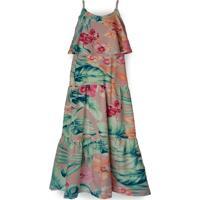 Vestido Longo Folie Florale Mini Cherie Estampado Rosa