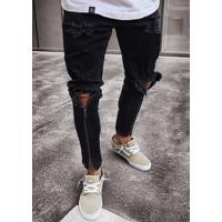Calça Jeans Skinny Zíper Element - Preta
