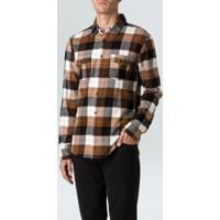 Camisa Colorado New Ml-Tabaco/Preto/Offwhite - P