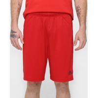 Bermuda Adidas Knit Ess 3S 2 Masculina - Masculino-Vermelho
