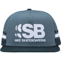 Boné Aba Reta Nike Sb Cut - Snapback - Trucker - Adulto - Verde Verde 480dfd6da192b