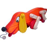 Brinquedo De Puxar Bohney Cachorro Totó Laranja