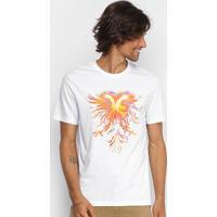 Camiseta Cavalera Aguia Fogo Masculina - Masculino-Branco