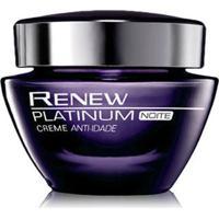 Creme Avon Anti-Idade Uso Noturno Renew Platinum - 50G - Feminino-Incolor