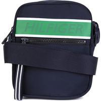 Bolsa Shoulder Bag Tommy Hilfiger Mini Reporter - Masculino-Preto+Verde