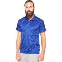 Camisa Polo Adidas D2M 3S Azul