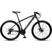 Bicicleta Aro 29 Quadro 17 Câmbio Tras. Shimano 21V Freio Mecânico Vega Preto/Cinza - Spaceline
