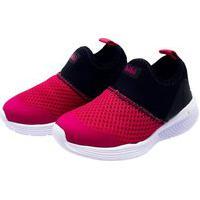 Tênis Infantil Bibi Fly Baby Tecido Preto/Pink V21 1136047 - Rosa - 20 Rosa
