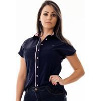 Camisa Pimenta Rosada Da Brittany - Feminino-Azul+Rosa