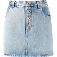 Alessandra Rich Minissaia Jeans - Azul