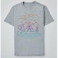Camiseta Reserva Ink Always Camping Masculina - Masculino-Cinza