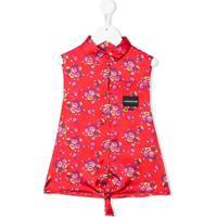 Calvin Klein Kids Blusa Com Estampa Floral - Vermelho