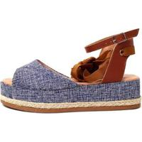 Sandália Damannu Shoes Juta Hannah Feminina - Feminino-Azul