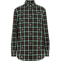 Burberry Camisa Xadrez Fil Coupé - Verde