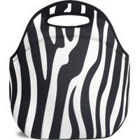 Lancheira Térmica Tritengo Em Neoprene - Zebra - Unissex