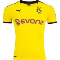 Camisa Borussia Dortmund I 19/20 Puma - Masculina - Amarelo/Preto