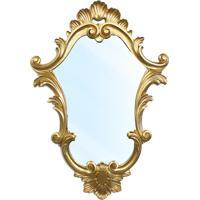 Espelho Clássico Verona Em Resina E Pintura Dourada
