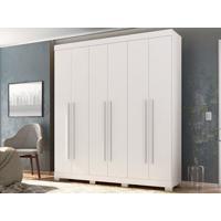 Guarda-Roupa 6 Portas Polo Branco Textura - Lc Móveis