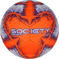 Bola Society Penalty S11 R4 Ix - Branco/Laranja