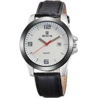 Relógio Skone Analógico 9180Br - Branco