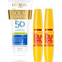 Kit 2 Máscaras De Cílios The Colossal Super Filme + Protetor Solar L'Oréal Paris Fps50 200Ml - Feminino