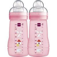 Mamadeira Fashion Bottle - 270Ml - 2 Unidades - Rosa - Mam
