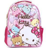 Mochila Infantil Escolar Xeryus Hello Kitty Bears - Feminino-Rosa+Pink