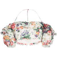 Zimmermann Blusa Allia Ombro A Ombro Floral - Estampado