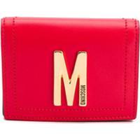 Moschino Porta Cartões Com Placa De Logo - Vermelho