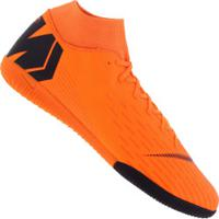 Chuteira Futsal Nike Mercurial Superfly X 6 Academy Ic - Adulto - Laranja Esc/Preto