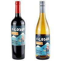 Vinho Tinto Filosur Malbec 2020 + Vinho Branco Filosur Chardonnay 2020