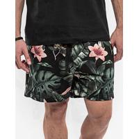 Bermuda De Moletom Floral Curta 400001