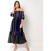 Vestido Elora Ciganinha Gótico Feminino Azul