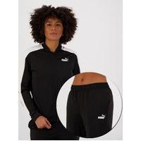 Agasalho Puma Baseball Tricot Suit Cl Feminino Preto E Branco