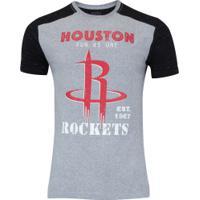Camiseta Nba Houston Rockets Sport - Masculina - Cinza/Preto