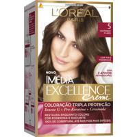 Coloração Imédia Excellence Creme N°5 Castanho Claro L'Oréal 47G