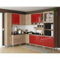 Cozinha Completa Guapó 16 Pt 5 Gv Argila E Vermelho