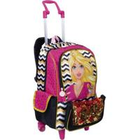 Mochila Infantil Sestini 2 Em 1 Barbie 19Z - Feminino-Rosa