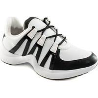 Sneaker Ramarim Chunky Trainer Feminino - Feminino-Preto+Branco