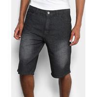 Bermuda Jeans Preston Black - Masculino-Preto