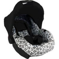 Conjunto Capa Para Bebê Conforto Com Acolchoado Extra E Capa De Carrinho - Alan Pierre Baby - Panda Cinza