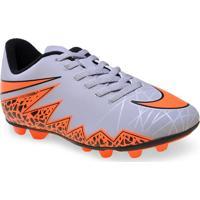 Chuteira Masc Infantil Nike 744942-080 Jr Hypervenom Phade Ii Cinza/Laranja